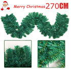 2PCS 270 x 25cm Christmas Garland Imperial Pine Fireplace Decorations Xmas Tree