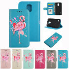 Blinking Flamingo Pattern PU Leather Wallet Folio Flip Case Cover for Samsung S5