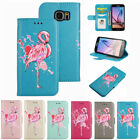 New Flamingo Pattern PU Leather Wallet Flip Folio Case Cover for Samsung S6 Edge