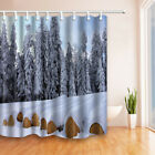 Snow-covered pine forest Shower Curtain Home Bathroom Decor & 12hooks 71*71inch