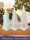 NEW Christmas Decoration Indoor /Outdoor LED Lights 3 Musical Acrylic Xmas Trees