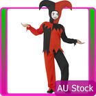 Boys Child Kids Twisted Jester Clown Costume Halloween Party Circus Book Week