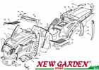 Exploded body parts 40 3/16in XT180HDE mower lawn mower CASTELGARDEN parts