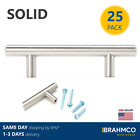 25 SOLID Stainless Steel T Bar Pulls Knobs Handles Cabinet Door Kitchen Drawer