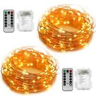 2 Set Fairy String Lights Battery Operated Waterproof YIHONG 8 Modes 50 LED Stri