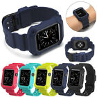 Sport Silicone Band Strap with iWatch Bumper Case For Apple