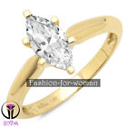 1.00Ct Marquise VVS1 DIAMOND 14K YELLOW GOLD Ring Solitaire Woman Wedding JANICE