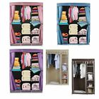 Double Triple Canvas Folding Close Wardrobe Cupboard Hanging Clothes Storage