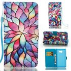 Lotus Pu Leather Flip Stand Card Slot Wallet Case Cover Skin For Cell Phones