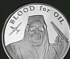 1 oz silver blood for oil! mini mintage of only 4,548! silver shield! BU, COA!