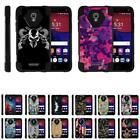 For Alcatel Fierce 4 / Allura / POP 4+ Dual Layer Hybrid Shell Stand Fitted Case