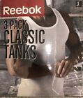 Reebok 3 Pack Classic White Tanks  Small / Medium