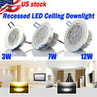 US stock Lot 6 12X 3W 7W 12W LED Downlight Ceiling Recessed Light Bulb Home Lamp