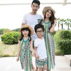 Family Matching Outfits Summer Mom and Daughter Seaside Vacation Beach Dress
