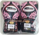 twins sparring gloves - TWINS BOXING GLOVES FBGV-11P FANCY PINK SPARRING MUAY THAI MMA GENUINE LEATHER