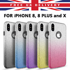iPhone X 7 8 Plus Luxury Shockproof GLITTER Crystal Phone Case Cover For APPLE