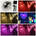 Christmas LED Heart-shaped Solar Wire Fairy String Lights Lamp Party Ambiance