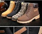 2018 Men's Casual Autumn Winter Warm Flat Martin Boot Ankle Boots Snow Shoes