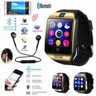 Q18 Bluetooth Smart Watch Phone Mate Headset Pack For  iPhone Samsung Huawei LG