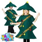 Child Christmas Tree Costume Childrens Girls Boys Fancy Dress Kids Xmas Outfit