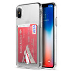Apple iPhone X Clear Hybrid Credit Card Rubber Silicone TPU Protector Case Cover