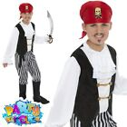 Child Pirate Boy Fancy Dress Costume Deluxe Caribbean Book Week Jolly Roger