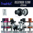 AUTHENTIC FREEMAX NEUTRON STAR 22MM    2mL Tank    RESIN or STEEL   COIL OPTION