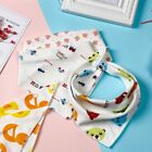1/5/10pieces Baby Cotton Bibs Feeding Smock Dribble Towel Triangle Scarf