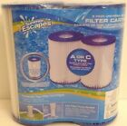 Summer Escapes Type A or C Universal Filter Cartridges Twin Pack for INTEX Pools