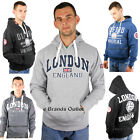 NEW MENS PULLOVER HOODIES JUMPER ENGLAND LONDON,OXFORD ACADEMY ZIP SIZE S M L XL