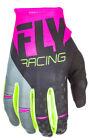 FLY RACING KINETIC GLOVE MOTO NEON PINK BLACK HI-VIS SIZE LARGE LG 371-41910