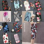 Elegant Lady Women Girl Colorful Tropical Floral Pattern Casual Pencil Skirt