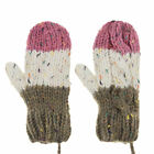 Children Women Thick Mittens with a String Hang Neck Gloves Soft Full- Finger