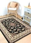 Classic and Timeless Oriental Durable Black Sincerity Sherbourne Rug in 9 Sizes