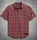 Harley-Davidson Men's Graphic Plaid Shirt 96417-18VM $54.95 USD