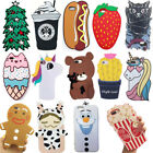 3D Cartoon Soft Gel Silicone Rubber Phone Case Cover For iPhone X 6 7 8 Plus New