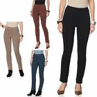 New MarlaWynne All Sz Women Pull-on FLATTER Fit Solid Straight-Leg Pant HSN 69