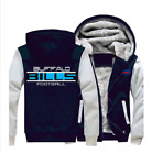 Winter Thicken Hoodie Team BUFFALO BILLS Warm Sweatshirt Lacer Zipper Jacket M01