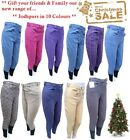 "Ladies Plain Printed Jodhpurs Horse Riding All Colours in Stock 24""-34"" waist"