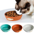 New Dog Cat Pet Feeder Feeding Bowl Water Dish Feeder Round Ceramics 3 Colors