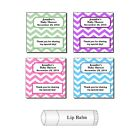 20 Personalized Baby Shower Chevron Lip Balm Party Favor Lab