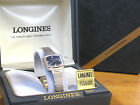 Longines Gold Medal 381 White Brecelet Blue Abstract Dial Swiss Ladies Watch
