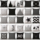 Simple Geometric Cotton Linen  Pillow Cases Sofa Car Throw pillow Cushion Cover  image