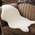 5 Colors Wool Sheepskin Rug Chair Cover Warm Hairy Carpet Seat Pad Plain Carpets
