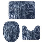 Animal Fur Print Bathroom Rugs Collection Anti-slip Toilet Lid Cover Contour