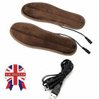 Rechargeable Heated Insoles Foot Warmer USB Charging Heat Boots Shoes Pad SN