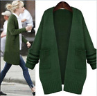 Womens loose Long Korea Sweater Knitting Cardigan jacket Coat Outwear Fashion