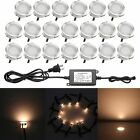 Pack 20pcs Outdoor Fence, Patio, Decks, Walkway, Paths, Stair LED Lighs WW/WHITE