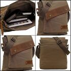 Bag Leather Canvas Brown Cotton Sholder Leptop Phone