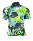 MIMO DESIGN GRUNGE SKULL Men's Cycling Jersey Short Sleeve
